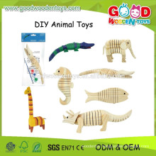 2015 New Animal DIY Painting Toys,Educational Wooden Painting Toys,Kids Popular Painting Toys