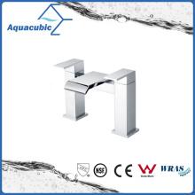Top-Mount Two Holes Chromed Dual Handle Brass Bath Faucet (AF6090-2)