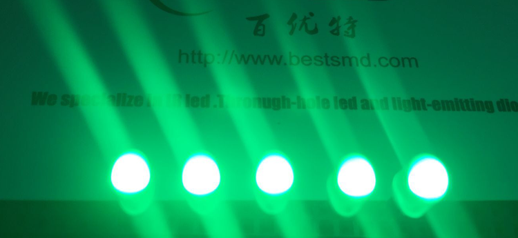 Oval green led