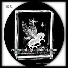 K9 3D Laser Crystal Block with Pegasus Inside