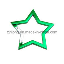 Star-Shape Aluminum Carabiner Snap Clip Hook Keychain Dr-Z0097