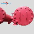 Duplex welded type inline oil filter housing