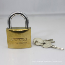 Gold Plated Arc Padlock with Cross Keys (GPP)