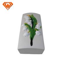 humidificador de cerámica decorado con flores de colores
