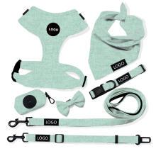 Coleira de cão de algodão ajustável personalizada para animais de estimação