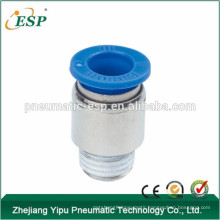 POC round male straight one touch pneumatic fittings