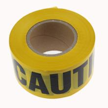 Advertência de fita de advertência PE não adesiva e impressão de perigo