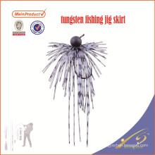 TJL001high quality verious size artificial bait tungsten fishing jig skirt