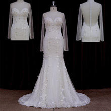 Real Sample Vintage Beaded Lace Corset Wedding Dress