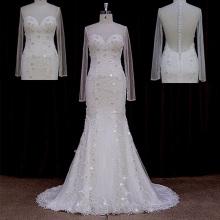 Реальные примеры Старинные бисерные кружева корсет свадебного платья
