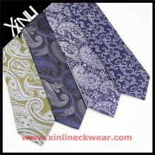 Corbata privada china de la etiqueta en los hombres del poliéster de Paisley Corbatas Personalizadas