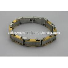 Atacado alibaba.2014 moda pulseira de aço inoxidável magnético, de alta qualidade, barato, pulseira homens