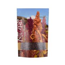 Custom Printed Resealable Ziplock Black White Brown Kraft Paper Bag with Clear Transperant Window for Coffee Spice Powder Pet Snack Food Packaging