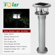 LED luces de jardín de aluminio luz solar jardín luz, jardineros opción solar luces led