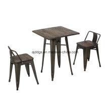 Wodden Base fer Table haute Table