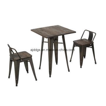 Wodden Base Iron Table High Table