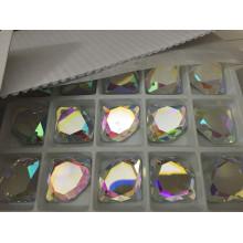 Diamant Form flache Rückseite Glas Steine Perlen
