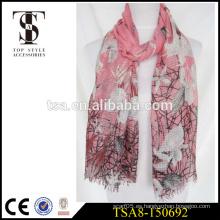 Bufanda grande floreciente de la gasa del estallido de la flor 100 bufanda mágica del poliester