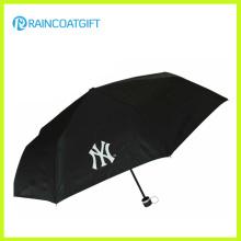 Parapluie pliant publicitaire fait sur commande de polyester de logo fait sur commande 3 par coutume