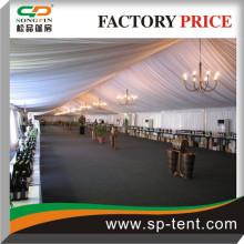 500 places de tente en aluminium 15x50m avec garnitures et garnitures décorées