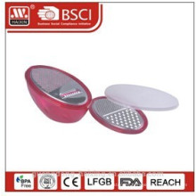 Plastic vegetable grater set with bowl and lid,FDA