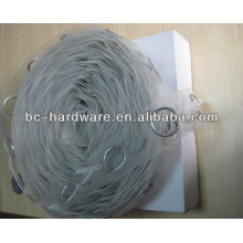 100% Polypropylene Transparent China Eyelet curtain tape