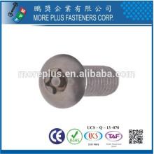 Fabriqué à Taiwan en acier inoxydable 306 M3X6mm Torx Drive Metric Machines Screw
