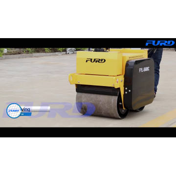 Double Drum Handheld Vibrating Road Roller