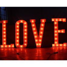 Illuminated Aluminum Decoration Bulb Letter Sign