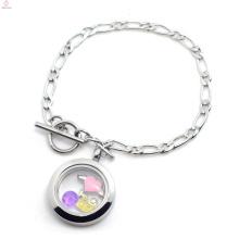 Bracelete magnético de prata da venda quente da amostra grátis, jóia de aço inoxidável
