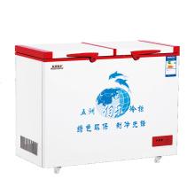 Открытый морозильник с двойной дверцей 168L Double Temperature Top
