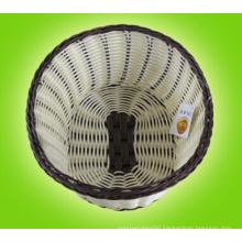 Fake Rattan Wicker Plastic Bread Basket; Storage Basket; Fruit Basket