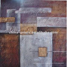 Pintura al óleo abstracta de la lona para la decoración casera