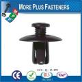Made In Taiwan Gray Plastic Car Trim Clip Plastic Retainer Trim Fastener Push Type Fender Shield Clip