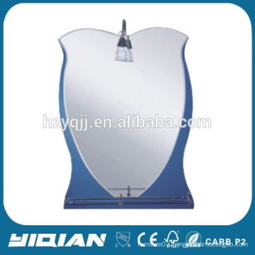 Glass Mirror High Quality Hotel Mirror with Modern Glass Shelf High Quality Shaving Mirror