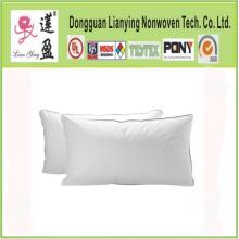 Standard Size White Cotton Polyester Fiber Hotel Pillow