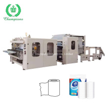 Automatic Gluing Lamination Kitchen Towel Embossing Rewinding Small Toilet Paper Making Machine
