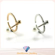 925 Silber Schmuck Real natürlichen Perle Ring erstellen Designs G (R10470)