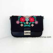 Promotional Lady PU Embroidered Handbags Women Mini Bag (NMDK-01425)