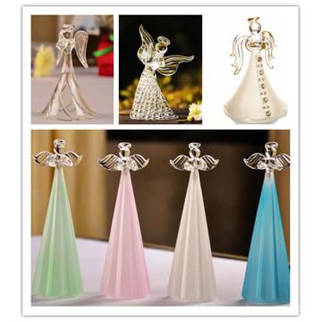 Requintado personalizado para presentes de lembrança de casamento Anjo de cristal