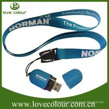 Beliebte benutzerdefinierte usb Lanyard / USB-Laufwerk Lanyard Clip