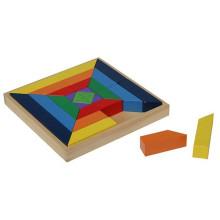 Hölzerne geometrische Blöcke Puzzle-Box