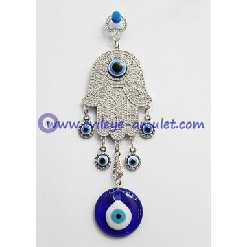 Hamsa Hand Of  Fatima Hand Of God Good Luck Evil Eye Protection Wall Hanging