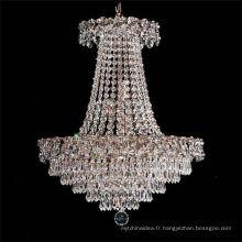 2017 Décoration Designs Top Qualité Lustre En Cristal Suspendu avec 9 lumières led
