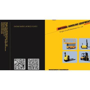 Empileur électrique de palette de 1.5ton 2ton 2.5m 1.6m 2m 3m 4m 5m 6m 7m 6.8m