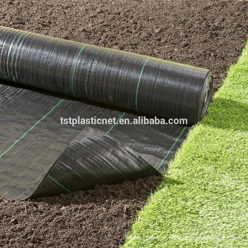 Tela de barreira de ervas daninhas tecida resistente Cobertura do solo de paisagem