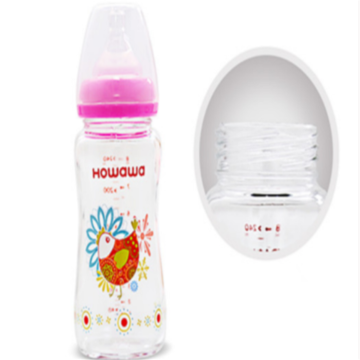 Infant Glass Wide Neck Botol Susu Perawatan 8oz