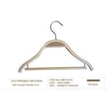Cabide de bambu 15′′ para loja de roupas