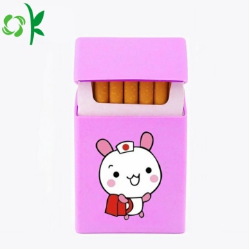 Cute Animal Printing Silicone Cigar Case untuk Perjalanan