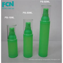 Quality pump bottle cosmetic packaging airless bottle skin care green